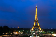 Eiffel Tower. Paris, France, November 12, 2005. Night view of the Eiffel Tower from the Trocadero Stock Image