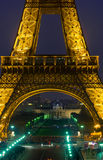 Eiffel Tower. Paris, France, November 12, 2005. Night view of the Eiffel Tower from the Trocadero Royalty Free Stock Image