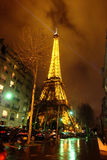 Eiffel Tower, Paris, France. Photo taken at night Royalty Free Stock Images