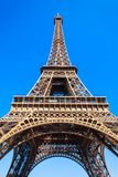 Eiffel Tower in Paris, France. Eiffel Tower or Tour Eiffel is a wrought iron lattice tower on the Champ de Mars in Paris, France royalty free stock photography