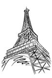 Eiffel tower, Paris, France. Vector sketch of Eiffel tower, Paris, France Stock Photos