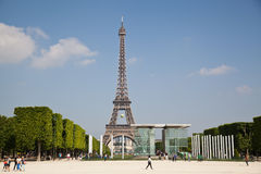 The Eiffel Tower in Paris, France Stock Images