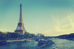 Eiffel Tower in Paris, France. Royalty Free Stock Photo