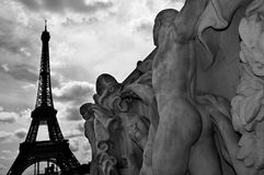 The Eiffel Tower in Paris, France Royalty Free Stock Photography
