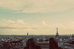 Eiffel Tower, Paris, France. Vintage, retro Royalty Free Stock Photos