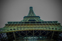 The Eiffel Tower in Paris, France. During winter fall time Stock Photos