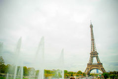 The Eiffel Tower in Paris, France. During winter fall time Royalty Free Stock Photos