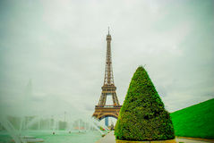 The Eiffel Tower in Paris, France. During winter fall time Royalty Free Stock Image