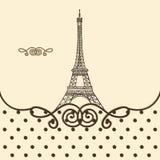 Eiffel Tower, Paris hand drawn Stock Image