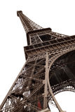 Eiffel Tower of Paris isolated on white Stock Photos