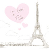 Eiffel Tower Paris Love Stock Photo