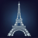 Eiffel tower - Paris made up a lot of diamonds Stock Photography