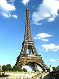 Eiffel tower in Paris. Eiffel tower, the most famous monument in Paris stock image