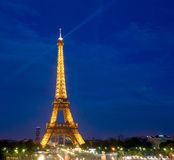 Eiffel Tower Paris Night Stock Photo