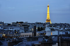 Eiffel Tower in Paris in the night royalty free stock photos