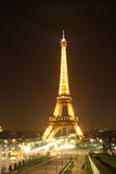 Eiffel Tower in Paris at night Royalty Free Stock Images