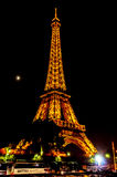 Eiffel Tower in Paris by night Stock Images