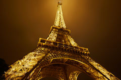 Eiffel tower in Paris at night Stock Photo