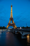 The Eiffel Tower Paris Night Royalty Free Stock Photography