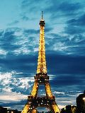 Eiffel Tower. Paris during night time Stock Images