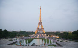The Eiffel Tower in Paris Stock Photos