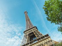 The Eiffel Tower in Paris. stock photos