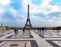 Eiffel Tower, Paris from the Palais de Chaillot Stock Images