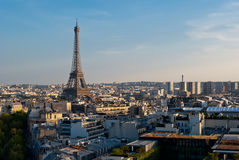 Eiffel Tower, Paris, panoramic view Stock Photo