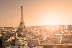 Eiffel Tower, Paris, panoramic view Royalty Free Stock Image
