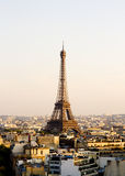 Eiffel Tower, Paris, panoramic view from Triumphal Arch Stock Photos
