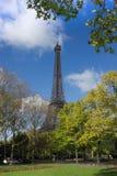 Eiffel Tower, Paris, from park Royalty Free Stock Photos