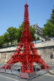 Eiffel Tower on Paris Plages Stock Image