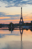 Eiffel tower in Paris from river Seine in morning at Paris, Fran Stock Photography