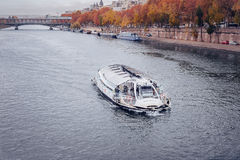 Embankment river Seine in Paris, France.  Stock Image