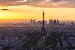 Eiffel Tower Paris Skyline Stock Photos