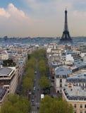 Eiffel Tower and Paris Skyline, Portrait Stock Images
