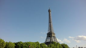 The Eiffel Tower in Paris, Sliding camera from Sena stock footage