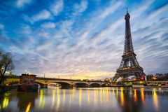 Eiffel tower, Paris. Sunrise at the Eiffel tower, Paris Stock Image