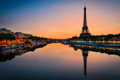 Eiffel tower, Paris. Sunrise at the Eiffel tower, Paris Royalty Free Stock Image
