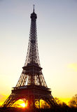 Eiffel tower Paris sunset Stock Images