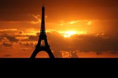 Eiffel tower Paris at sunset Royalty Free Stock Photos