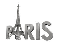Eiffel Tower with Paris Text Royalty Free Stock Images