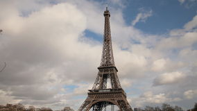Eiffel tower in Paris time lapse stock video footage