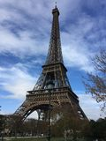 Eiffel tower in Paris. Tourism in France champs de mars universal exposition Royalty Free Stock Photo
