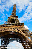 Eiffel Tower in Paris under blue sky France Stock Photography