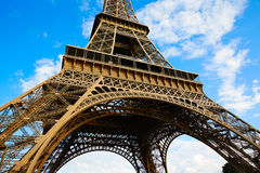 Eiffel Tower in Paris under blue sky France Royalty Free Stock Photo
