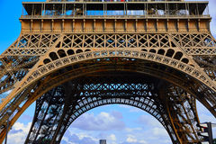 Eiffel Tower in Paris under blue sky France Royalty Free Stock Photos