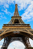 Eiffel Tower in Paris under blue sky France Stock Images