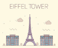 Eiffel tower in Paris. Vector illustration on Stock Images