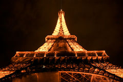 Eiffel Tower, Paris. A view of the famous Eiffel Tower of Paris by night Stock Image